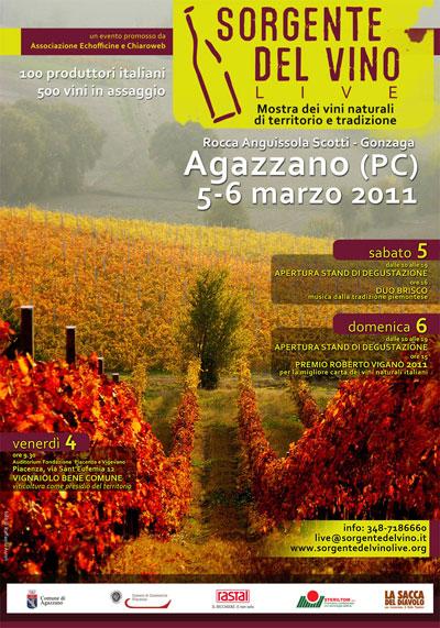 locandina di sorgentedelvino live 2011