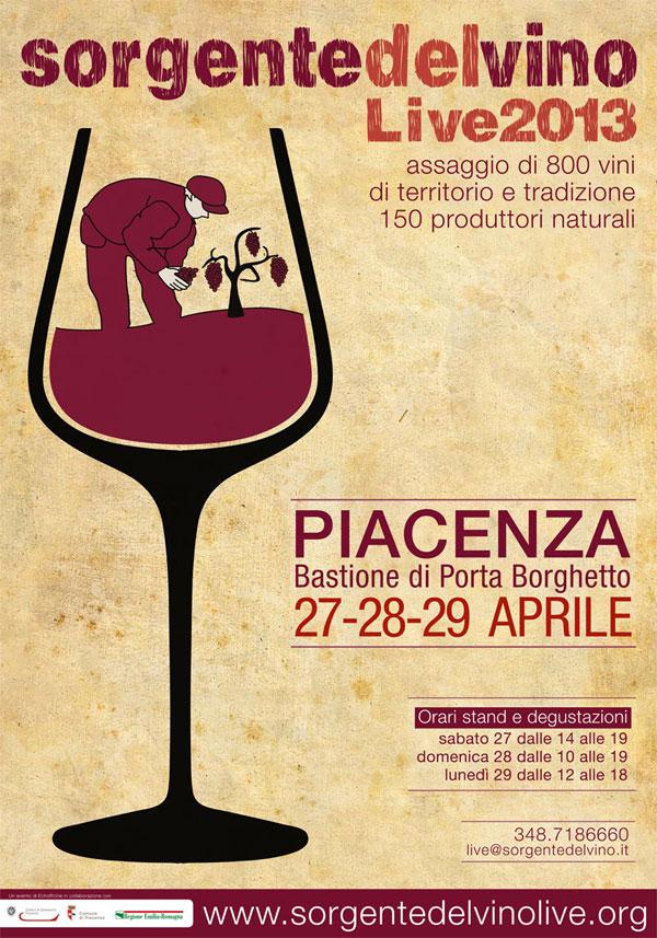 Sorgentedelvino LIVE 2013 - vini naturali di territorio e tradizione a Bastione Borghetto, Piacenza